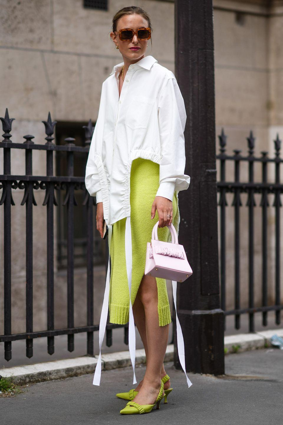 <p>We are firm believers that a crisp white shirt is the most versatile piece in a woman's wardrobe – but that doesn't mean it has to be boring. Look for interesting takes on the style and team with colourful pieces for a modern touch.</p>