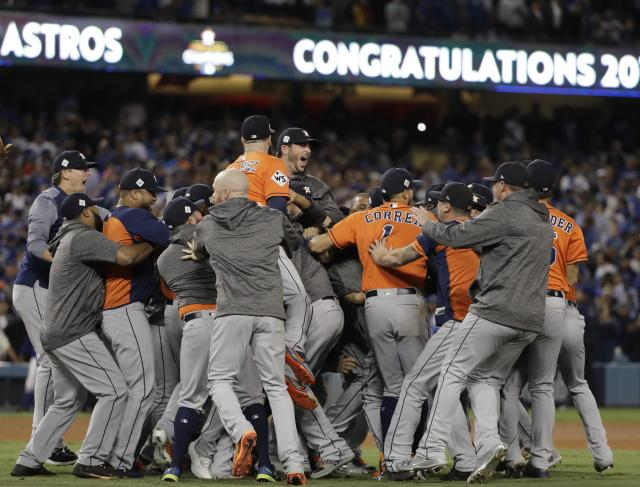Houston turned out to watch the Astros in the World Series. (AP Photo)