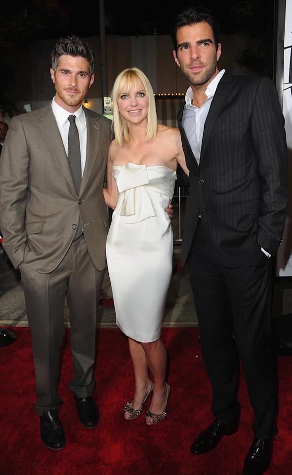 "<a href=""http://movies.yahoo.com/movie/contributor/1808685168"">Dave Annable</a>, <a href=""http://movies.yahoo.com/movie/contributor/1800506130"">Anna Faris</a> and <a href=""http://movies.yahoo.com/movie/contributor/1808558768"">Zachary Quinto</a> at the Los Angeles premiere of <a href=""http://movies.yahoo.com/movie/1810179802/info"">What's Your Number?</a> on September 19, 2011."