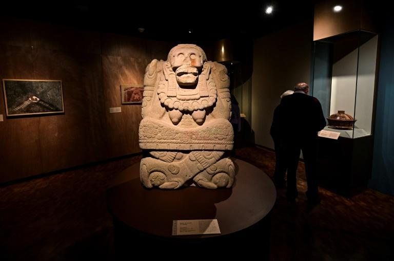 """""""The Greatness of Mexico"""" exhibition presents 1,500 pieces, almost half of which are on show in the country for the first time (AFP/Pedro PARDO)"""