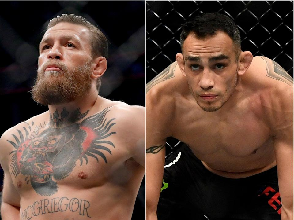 Tony Ferguson (right) has long sought a fight against McGregorZuffa LLC via Getty Images