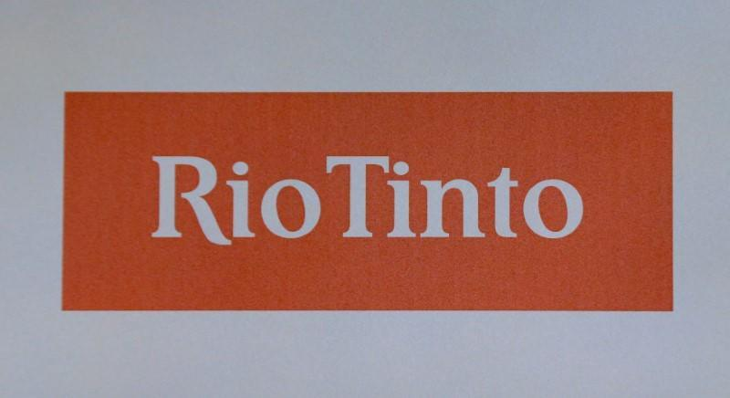 FILE PHOTO: The Rio Tinto mining company's logo is photographed at their annual general meeting in Sydney, Australia, May 4, 2017. REUTERS/Jason Reed/File Photo