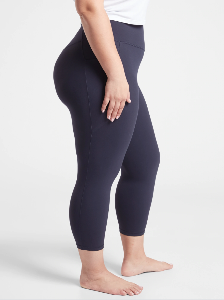 """<h3>Athleta Salutation Stash Pocket II Capri</h3><br>Not to be outdone, Athleta offers a fabrication they call """"<a href=""""https://athleta.gap.com/browse/category.do?cid=1125067&mlink=1150749,18282720,FabricInnovations_0121_Fabric_Powervita&clink=18282720"""" rel=""""nofollow noopener"""" target=""""_blank"""" data-ylk=""""slk:Powervita"""" class=""""link rapid-noclick-resp"""">Powervita</a>"""" — a breathable, quick-drying fiber that a reviewer named Audrey attested was """"light and so perfect for warmer weather.""""<br><br><strong>Athleta</strong> Salutation Stash Pocket II Capri, $, available at <a href=""""https://go.skimresources.com/?id=30283X879131&url=https%3A%2F%2Fathleta.gap.com%2Fbrowse%2Fproduct.do%3Fpid%3D532569022%23pdp-page-content"""" rel=""""nofollow noopener"""" target=""""_blank"""" data-ylk=""""slk:Athleta"""" class=""""link rapid-noclick-resp"""">Athleta</a>"""
