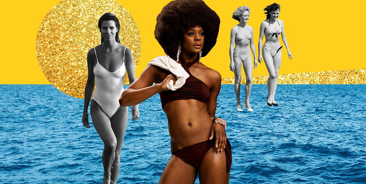 <p>One-pieces and bikinis have changed a lot over the years, going from super simple to crazy cutouts, metallics, and embellishments. Find out which suit was the most popular the year you were born! </p>
