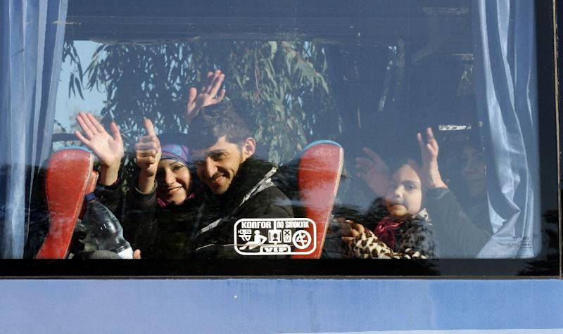 Some 2,000 rebels and their families will abandon the Waer district in Homs to travel to other opposition-held areas, after years of siege and heavy shelling (AFP Photo/Louai Beshara)