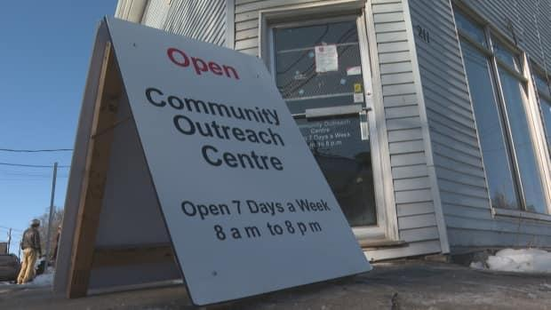 The Community Outreach Centre began as a pilot project at 211 Euston St. in 2020, before moving to other areas temporarily. Its new home is back on Euston Street in an old curling club. (Brian Higgins/CBC - image credit)