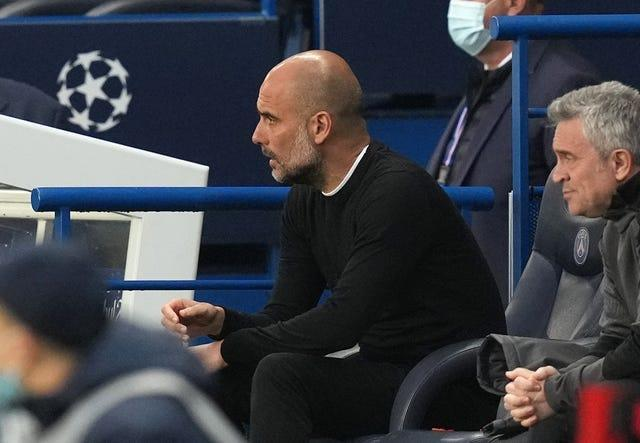Guardiola encouraged his side to be