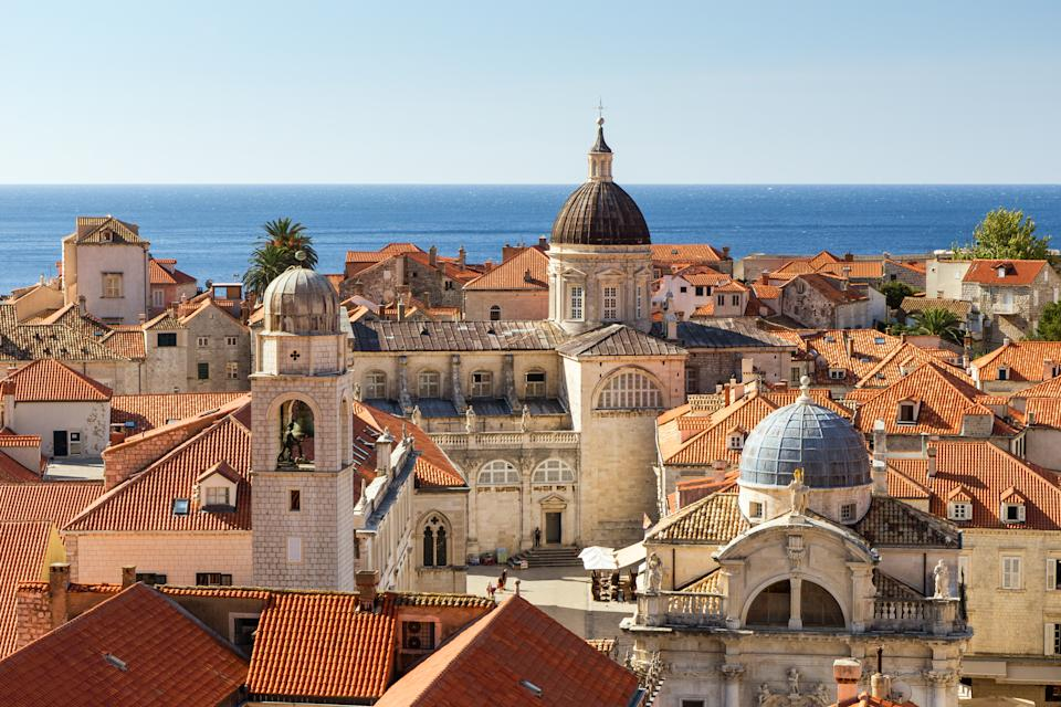 Old Town's skyline in Dubrovnik, Croatia. Heritage sites around the world are under threat due to conditions created by climate change. Increased risk for floods or fire put some of the world's most famous monuments and locations in jeopardy. (Getty)
