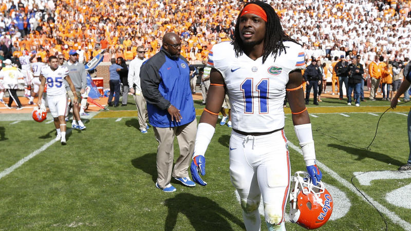Neiron Ball, pictured here after a game for the Florida Gators in 2014.