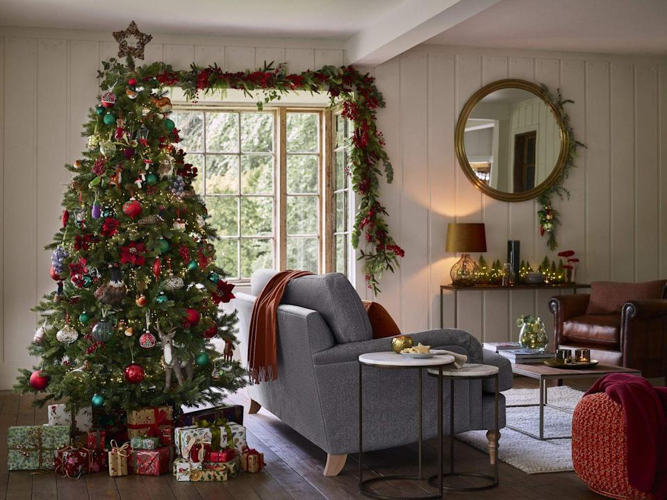 """<p>With a colour palette of rich reds, copper and dark greens, Festive Fields is perfect to get your hands on in time for Christmas. Inspired by pastoral landscapes, it's the ultimate way to bring the outside in. <br></p><p><strong>Follow Country Living on <a href=""""https://www.instagram.com/countrylivinguk/"""" rel=""""nofollow noopener"""" target=""""_blank"""" data-ylk=""""slk:Instagram"""" class=""""link rapid-noclick-resp"""">Instagram</a>.</strong></p>"""