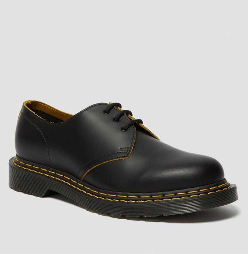"""<p><strong>Dr. Martens</strong></p><p>drmartens.com</p><p><strong>$130.00</strong></p><p><a href=""""https://go.redirectingat.com?id=74968X1596630&url=https%3A%2F%2Fwww.drmartens.com%2Fus%2Fen%2Fp%2Funisex-shoes-smooth-slice-1461-ds&sref=https%3A%2F%2Fwww.esquire.com%2Fstyle%2Fmens-fashion%2Fg33995426%2Fbest-new-menswear-september-11-2020%2F"""" rel=""""nofollow noopener"""" target=""""_blank"""" data-ylk=""""slk:Buy"""" class=""""link rapid-noclick-resp"""">Buy</a></p><p>Double the stitching, double the fun! </p>"""