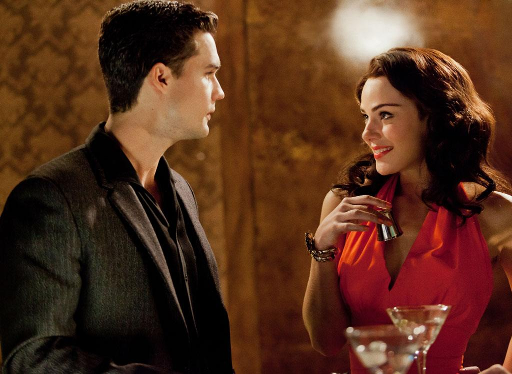 "Steven Strait as Stevie Evans and Jessica Marais as Lily Diamond in ""Magic City"" Season 2."