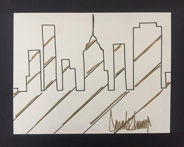 Drawing by Donald Trump submitted for evaluation to Barnebys. (Barnebys)