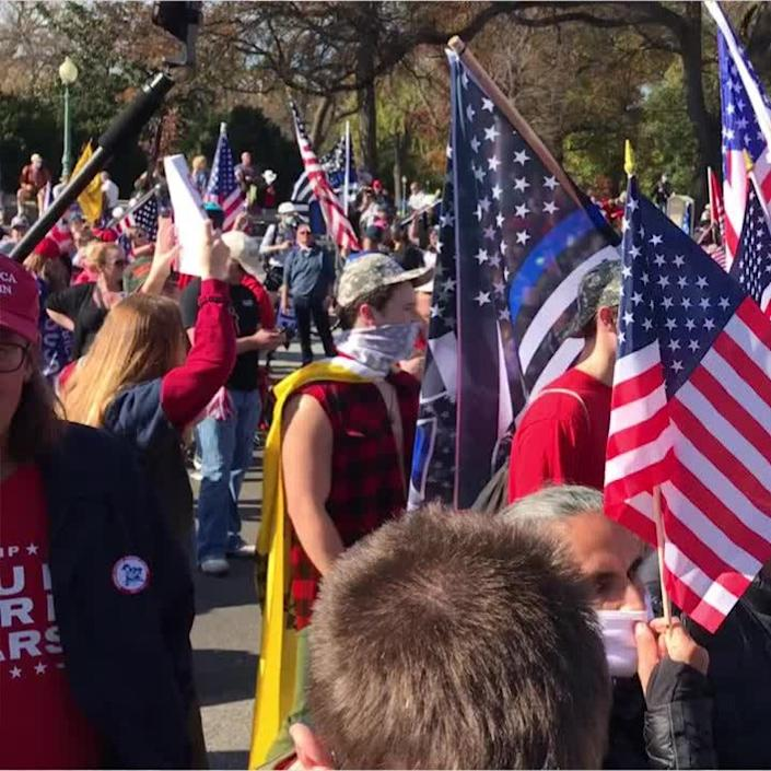 Thousands of President Trump supporters joined together for the 'Million MAGA March'