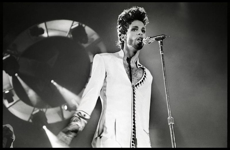 Prince performs on his Diamonds & Pearls tour in 1992.