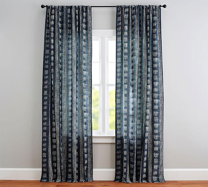 """<p>This set of gorgeous blue curtains offers privacy and style. We love how well they pair with a myriad of neutral hues, from cream and rust to gray.</p> <p><strong><em>Shop Now:</em> </strong><em>Pottery Barn Shibori Dot Drape, $159, <a href=""""http://pottery-barn.7eer.net/c/249354/267848/4332?subId1=MSL%2CTheBestSimpleLinenCurtainsforYourNeutralHome%2Cdlarson%2CCur%2CGal%2C7838948%2C202006%2CI&u=https%3A%2F%2Fwww.potterybarn.com%2Fproducts%2Fshibori-dot-drape"""" rel=""""nofollow noopener"""" target=""""_blank"""" data-ylk=""""slk:potterybarn.com"""" class=""""link rapid-noclick-resp"""">potterybarn.com</a></em><em>. </em></p>"""
