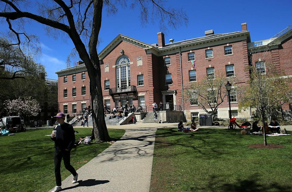 The Stephen Robert 1962 Campus Center at Brown University in Providence, Rhode Island, on April 25, 2019. / Credit: Lane Turner/The Boston Globe via Getty