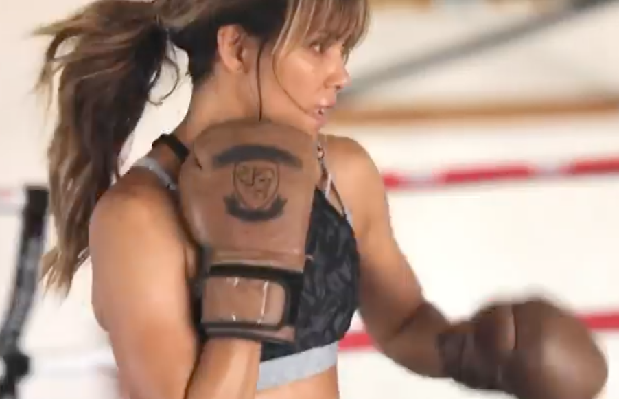 halle berry boxing workout