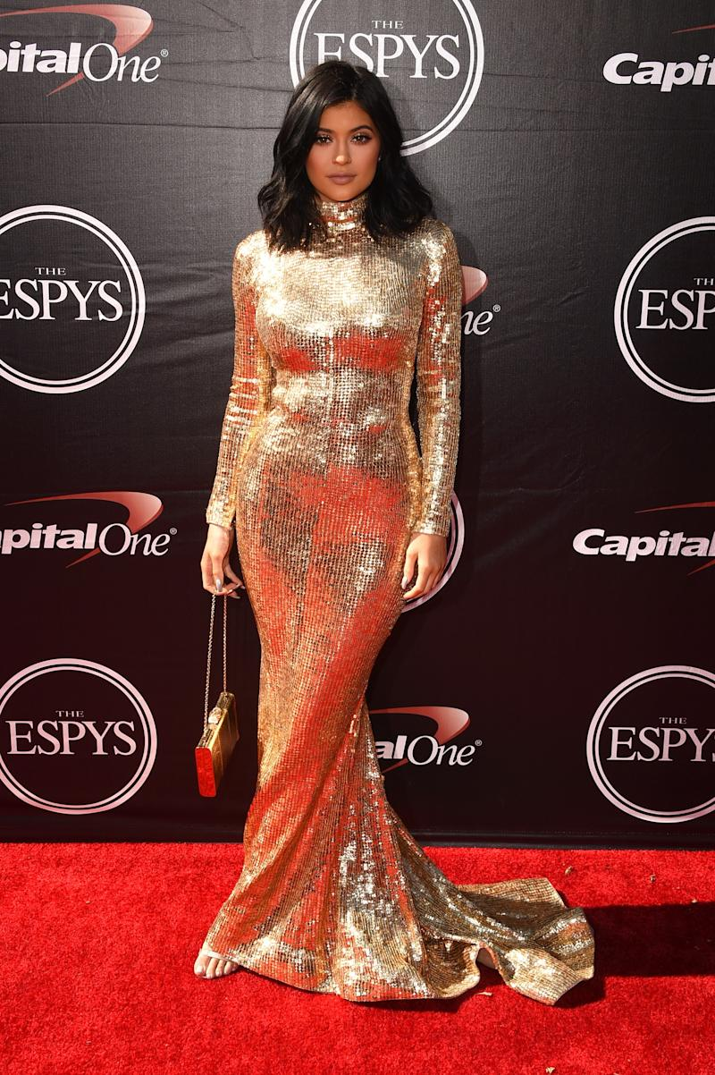 Kylie Jenner in Shady Zeineldine at the ESPYs in Los Angeles, California, July 2015.