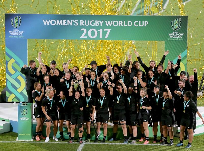 Women's involvement in rugby reached a record 2.7million players last year and attracts diverse characters as AFP Sports discovered (AFP Photo/Paul FAITH)