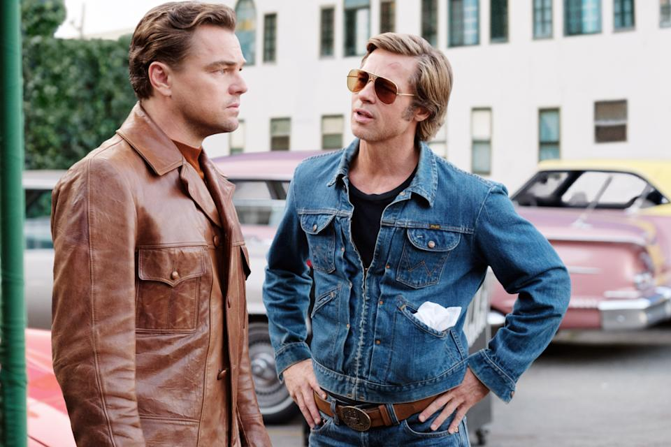 Leonardo DiCaprio and Brad Pitt as Rick Dalton and Cliff Booth in 'Once Upon a Time in Hollywood' (Photo: Andrew Cooper / © Columbia Pictures / courtesy Everett Collection)
