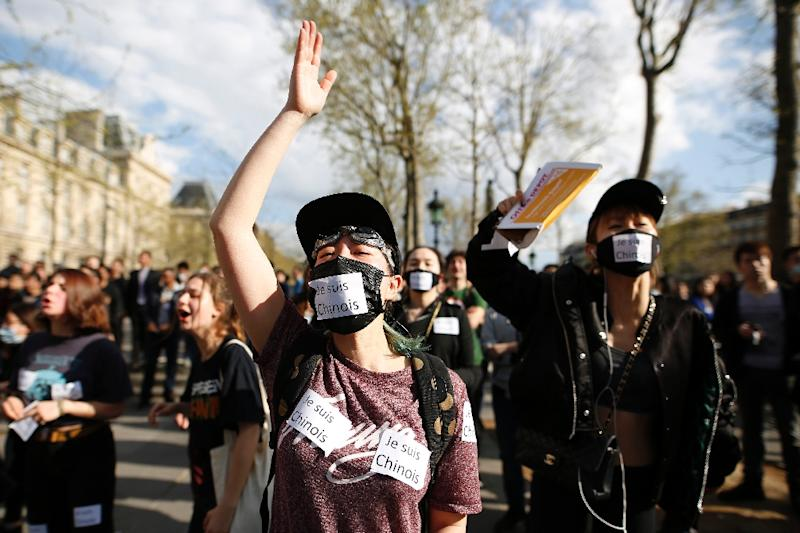 A protest over the death of a Chinese man killed by police drew some 6,000 people to central Paris
