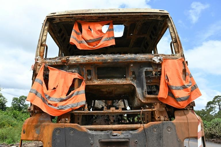 A protest against Ouattara's third-term bid turned violent in Bangolo, where mining company trucks were torched