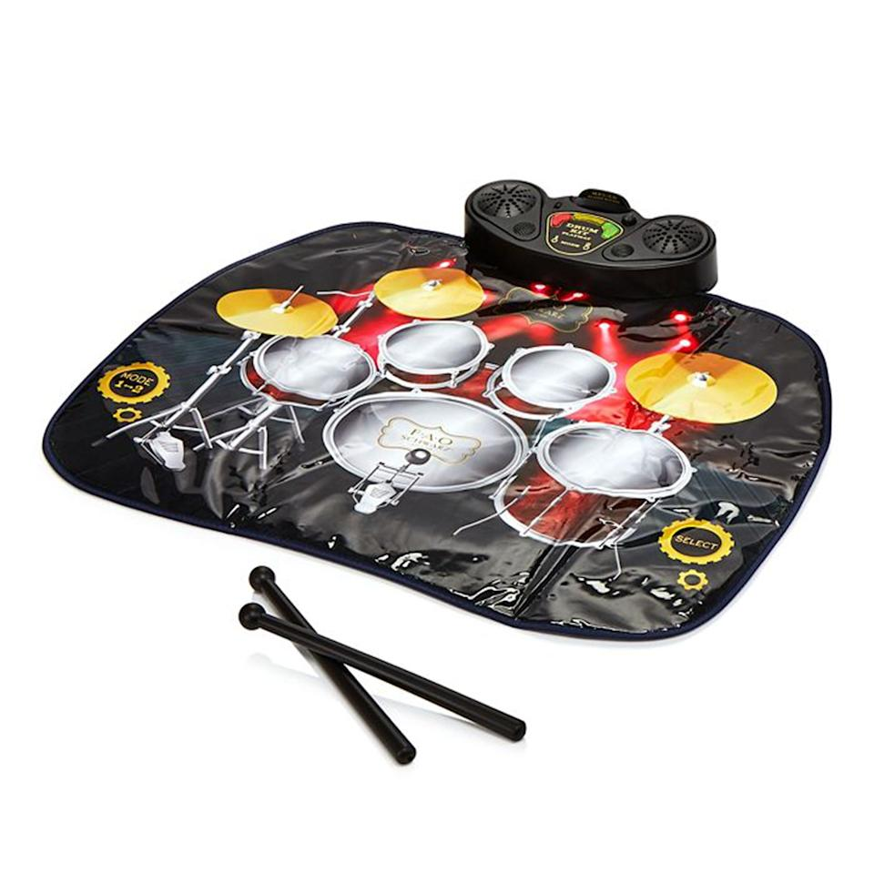 "Encourage your budding musician with this portable drum mat. It comes equipped with dual speakers and audio jacks. $50, Bloomingdale's. <a href=""https://www.bloomingdales.com/shop/product/fao-schwarz-tabletop-drum-mat-ages-3?ID=3530509&pla_country=US&CAWELAID=120156070010034162&cm_mmc=Google-PLA-ADC-_-GS_Local_Only_tROAS-_-All_Products-_-843479101348&gclid=EAIaIQobChMIwP_TgsGd5gIVCZ-fCh3vGQwpEAQYAiABEgI1CPD_BwE"">Get it now!</a>"