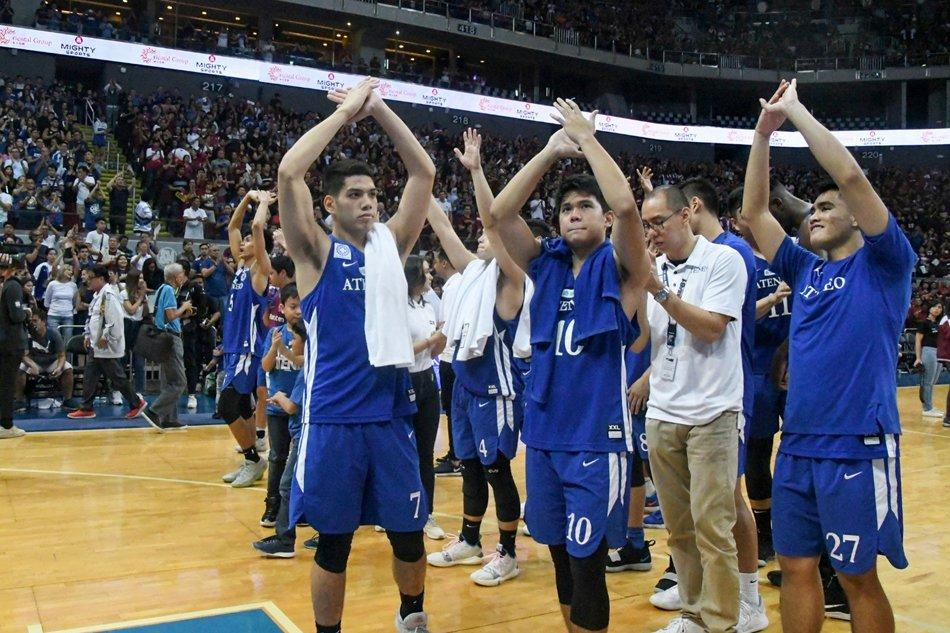 Ateneo de Manila Blue Eagles win their third consecutive UAAP men's basketball title. (Source: Coconuts Manila)