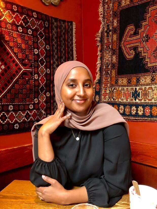 Poet Aisha Ali says she hopes Saturday's online dialogue puts pressure on government authorities to act to make the city safer and more inclusive for Black Muslim woman. (Submitted by Aisha Ali - image credit)