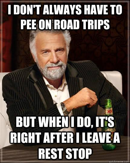 pee on road trips beer commercial