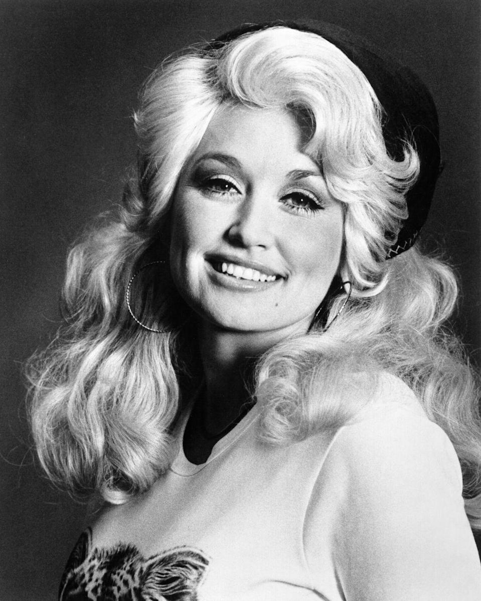 """<p>Prior to the release of her first number one hit, """"Joshua,"""" Parton was gaining notoriety for her songwriting, beautiful voice, and those amazing curls. </p>"""