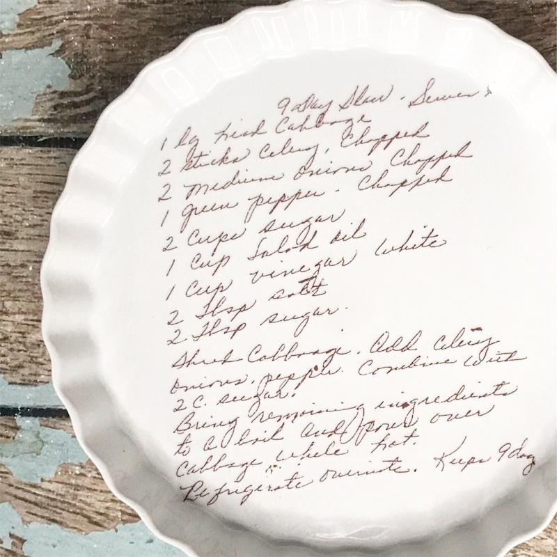 """Share your favorite recipes and have them hand-painted on a food safe, oven safe and hand washable pan. <a href=""""https://fave.co/2FQ5LvK"""" target=""""_blank"""" rel=""""noopener noreferrer"""">Find it for $75 on Etsy.</a>"""