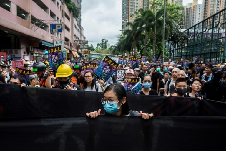 Thousands hit the streets of Hong Kong again this weekend (AFP Photo/Isaac LAWRENCE)