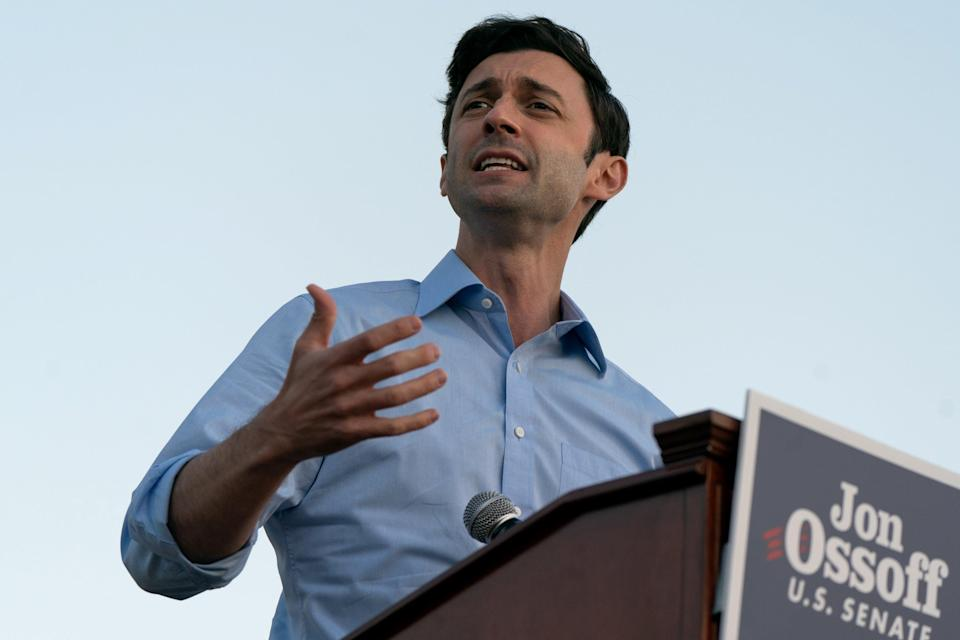Democrat Georgia candidate Jon Ossoff launches blistering attack on Trump state visit (Getty Images)