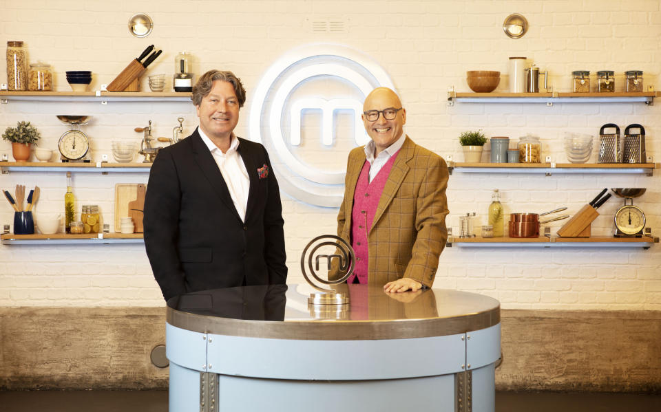 WARNING: Embargoed for publication until 00:00:01 on 03/08/2021 - Programme Name: Celebrity Masterchef S16 - TX: n/a - Episode: Celebrity Masterchef S16 - Judge Generics (No. Judge Generics) - Picture Shows: **STRICTLY EMBARGOED NOT FOR PUBLICATION UNTIL 00:01 HRS ON TUESDAY 3RD AUGUST 2021** John Torode, Gregg Wallace - (C) Shine TV - Photographer: Production