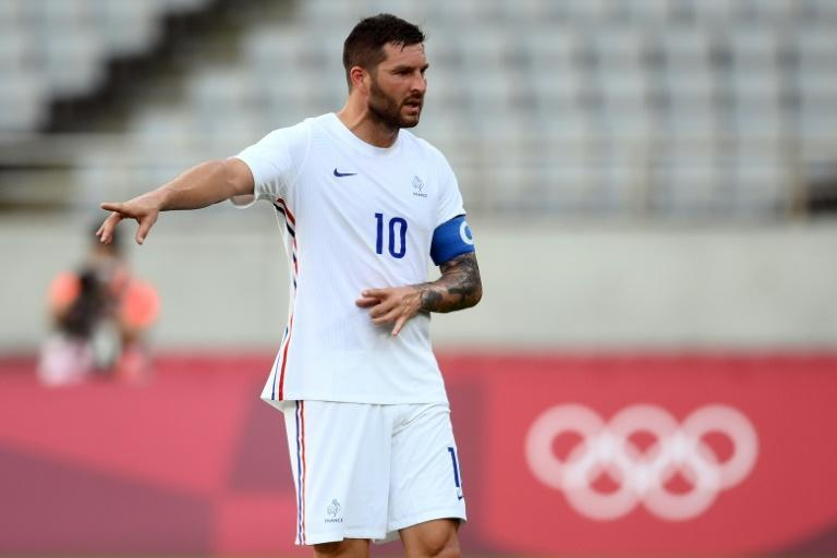 French forward Andre-Pierre Gignac was in action as the men's football tournament got under way on Thursday