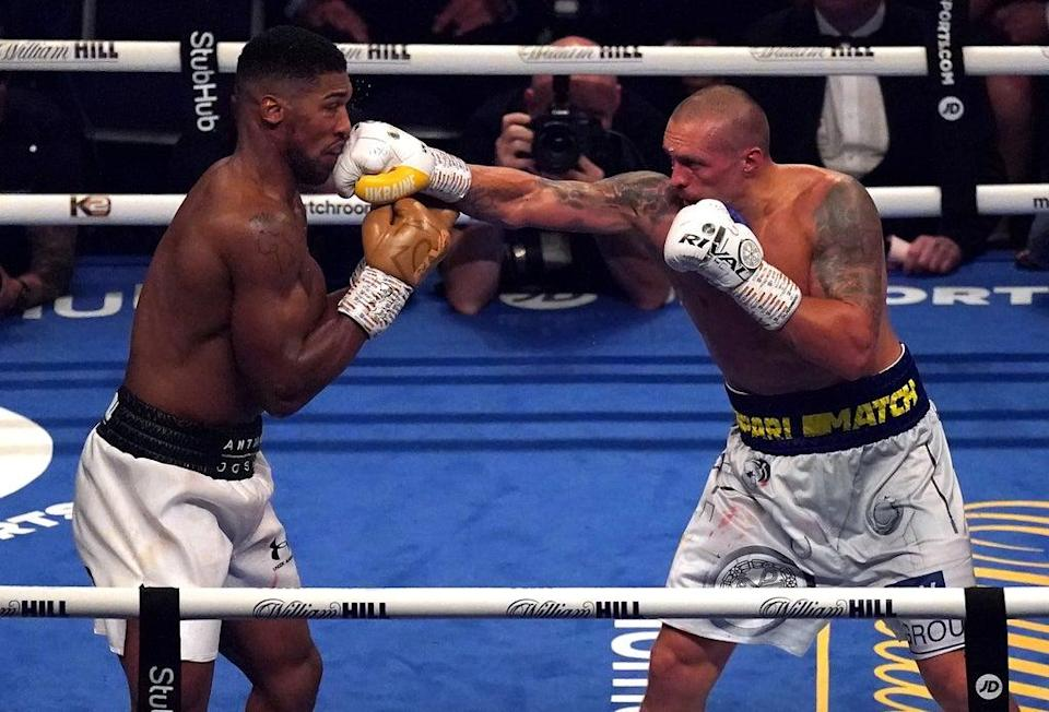 British heavyweight Anthony Joshua (left) was outclassed by Oleksandr Usyk  (PA Wire)