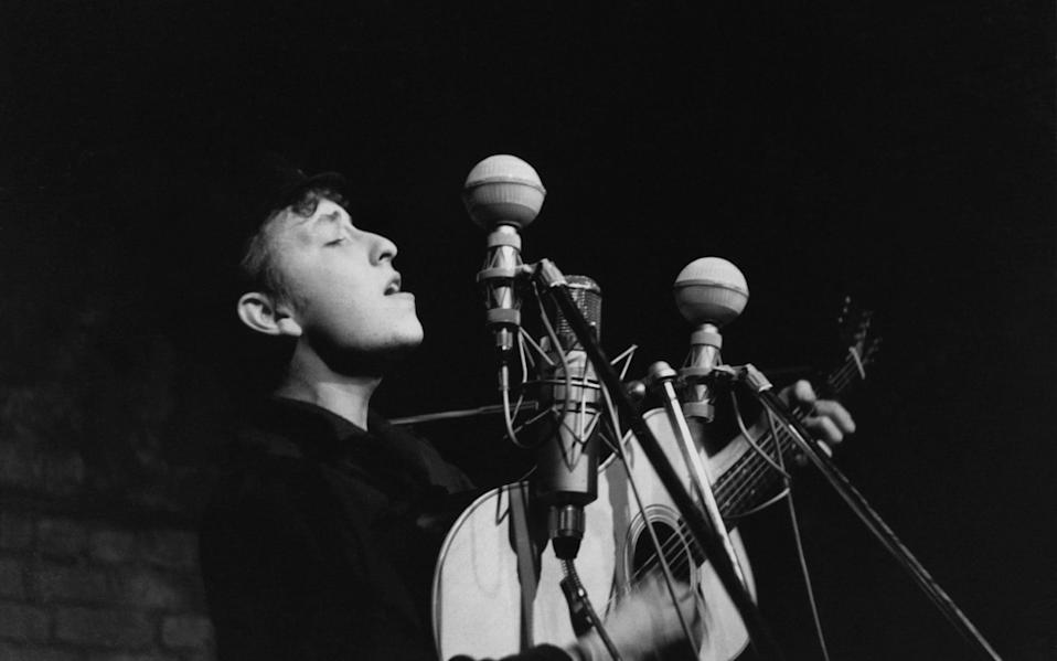 Mythical: Bob Dylan performing in New York City, 1961 - Sigmund Goode