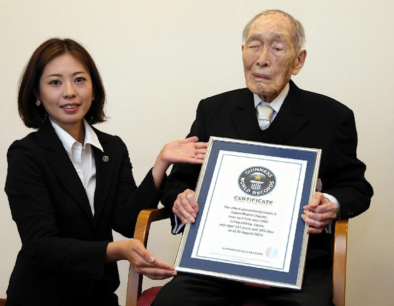Sakari Momoi, recognised as the world's oldest male at the age of 111 in August 2014, has died of kidney failure in a care home in Tokyo