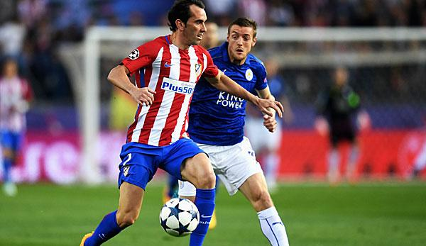 Champions League: Atleticos Godin: Vardy ist bei Leicester unersetzlich