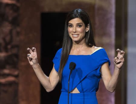 File photo of actress Sandra Bullock at the American Film Institute's 42nd Life Achievement Award at the Dolby theatre in Hollywood