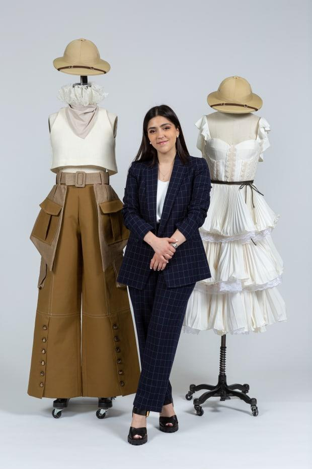 "<p>Marianna Gonzalez, a fourth-year student from Brownsville, Texas, with garments designed for Jane from ""Tarzan."" Photo: Courtesy of FIT</p>"