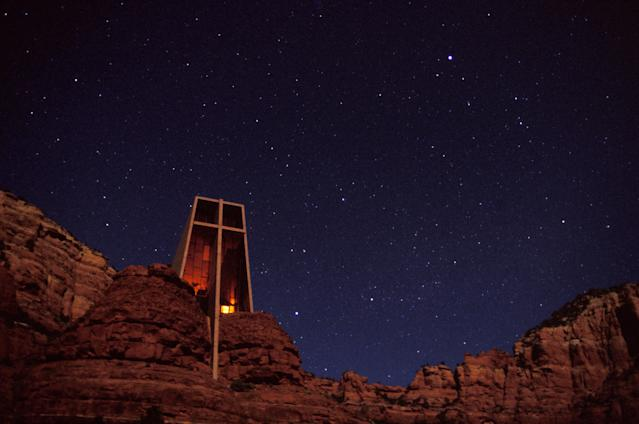 Chapel of the Holy Cross in Sedona, Arizona. (Photo Researchers via Getty Images)