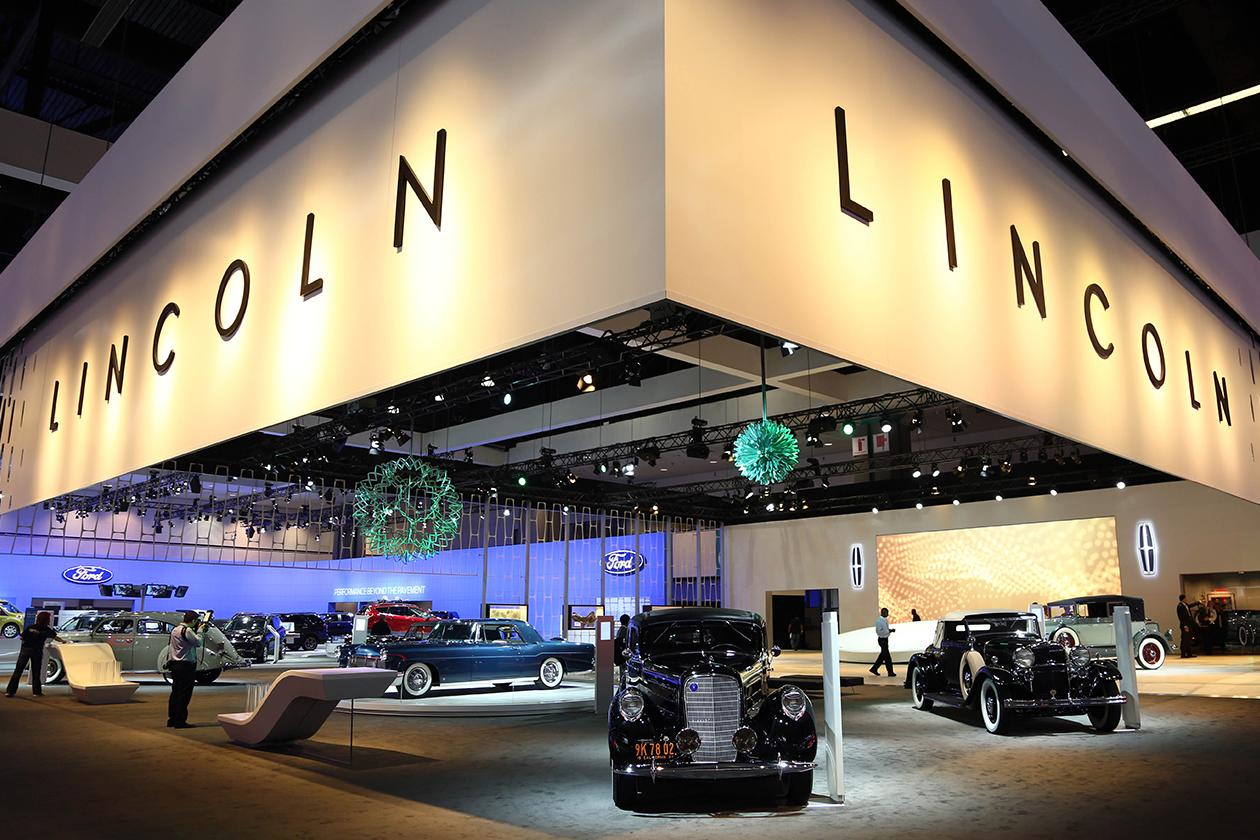 Lincoln's Heritage on Display is seen during the Los Angeles Auto Show.
