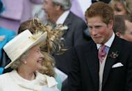 <p>Or, maybe he was simply making a goofy face to amuse his grandmother, Queen Elizabeth. Even though this photo was taken in 2005, it's safe to say Harry hasn't lost his silly spark over the years. <br></p>