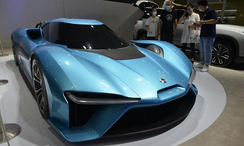 A Nio EP9 sports car is on show in Nanjing last year.