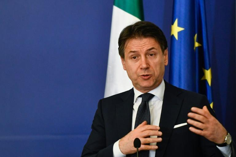 """""""Everything is under control"""", said Italian Prime Minister Giuseppe Conte, stressing that the government was maintaining """"an extremely high level of precaution"""" against the virus (AFP Photo/NIKOLAY DOYCHINOV)"""