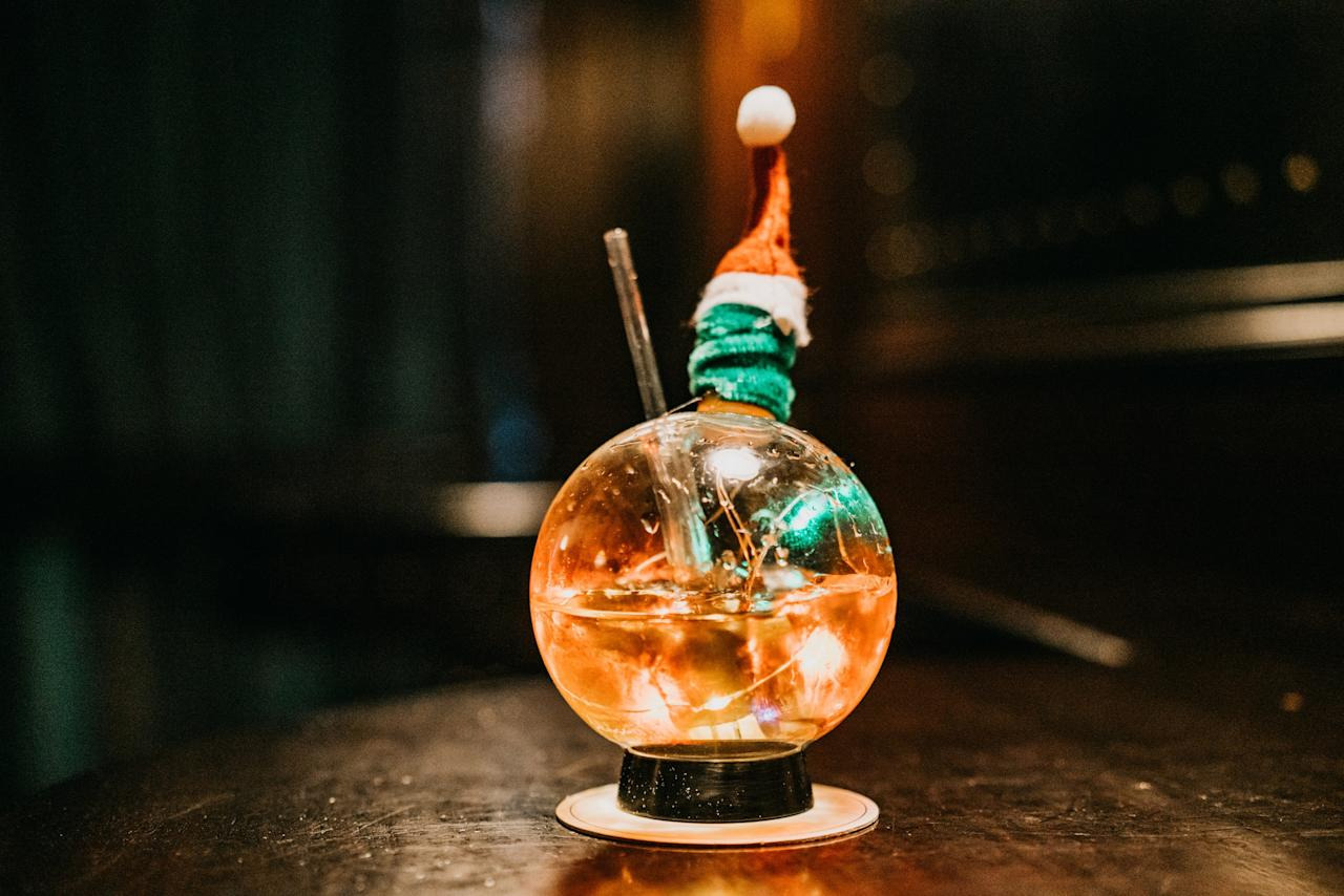"""<p>I tend to leave the city for Christmas, but I do love how festive all the bars and restaurants get this time of year. This season, I want to make time to stop by the <a href=""""https://www.cntraveler.com/bars/new-york/nomad-bar?mbid=synd_yahoo_rss"""">NoMad bar</a> (one of my favorite places to <a href=""""https://www.cntraveler.com/gallery/best-bars-in-new-york-city?mbid=synd_yahoo_rss"""" target=""""_blank"""">drink in New York City</a> at any time of year) to try their holiday cocktail pop-up. I'm a big fan of their milk punch, so I'll be ordering the Winter Wonderland, which is served in a very Instagram-friendly snow globe. It's a fabulous place to go with friends, since you can order one of their """"cocktail explosions,"""" which serves anywhere from 4 to 8 people. Just make sure to make a reservation—the bar is popular and always packed year-round. —<em>Stephanie Wu</em></p> <p><em>Dates: November 24 to December 22, on Sunday evenings starting at 5 p.m.</em><br> <em>Address: 10 West 28th St, New York</em><br> <em>Neighborhood & nearby: Flatiron—accessible via the F, M, R, W, and 6. Duck into the NoMad hotel for a fancy holiday meal, or the more casual Made Nice for a quick bite—it's all run by the same team.</em></p>"""
