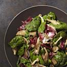 """<p>In this hearty mushroom and spinach salad recipe, sturdier """"mature"""" spinach leaves hold up better than baby spinach when tossed with the warm mushroom-and-bacon vinaigrette. <a href=""""http://www.eatingwell.com/recipe/253037/spinach-warm-mushroom-salad/"""" rel=""""nofollow noopener"""" target=""""_blank"""" data-ylk=""""slk:View recipe"""" class=""""link rapid-noclick-resp""""> View recipe </a></p>"""